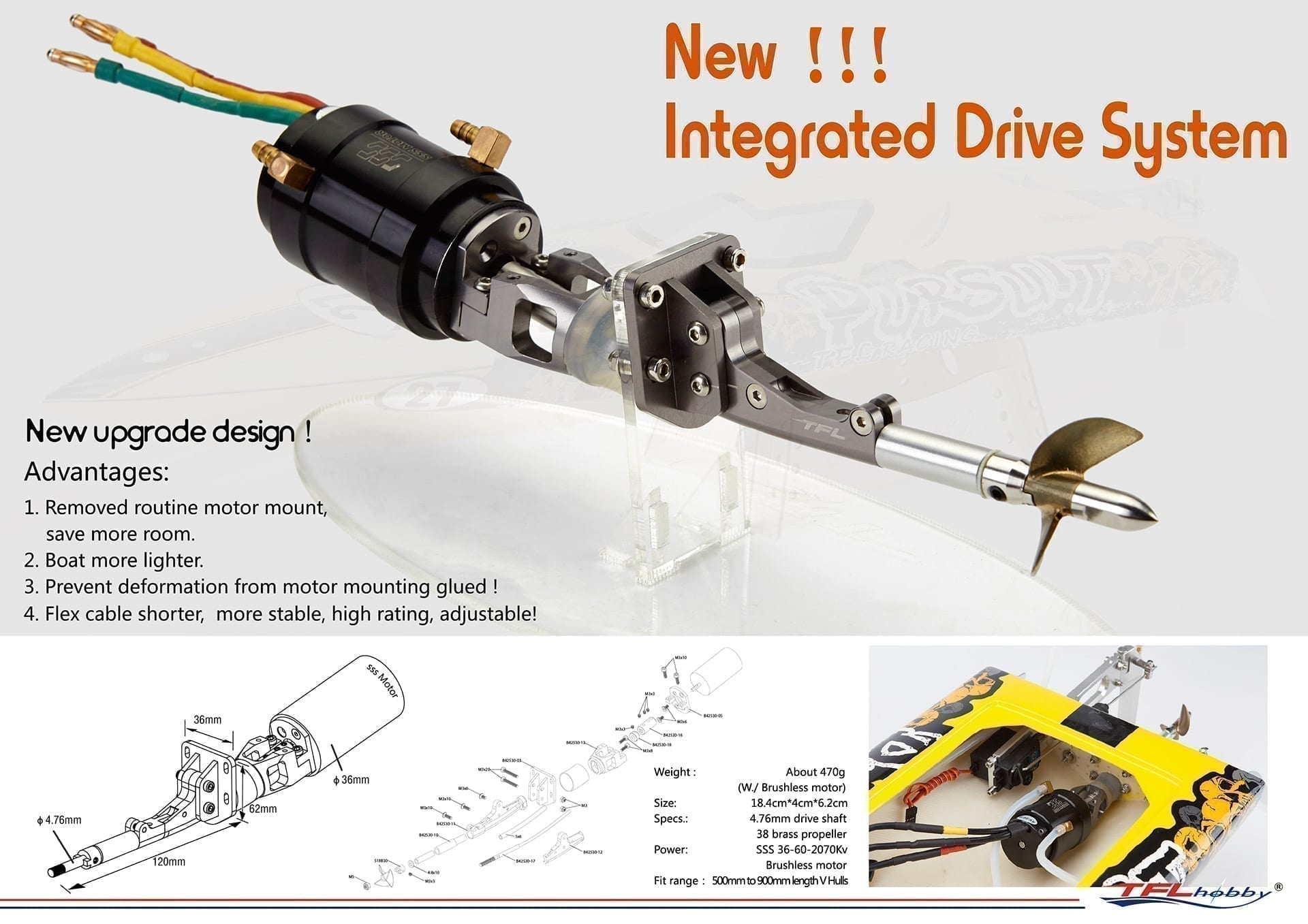 TFL Integrated drive system