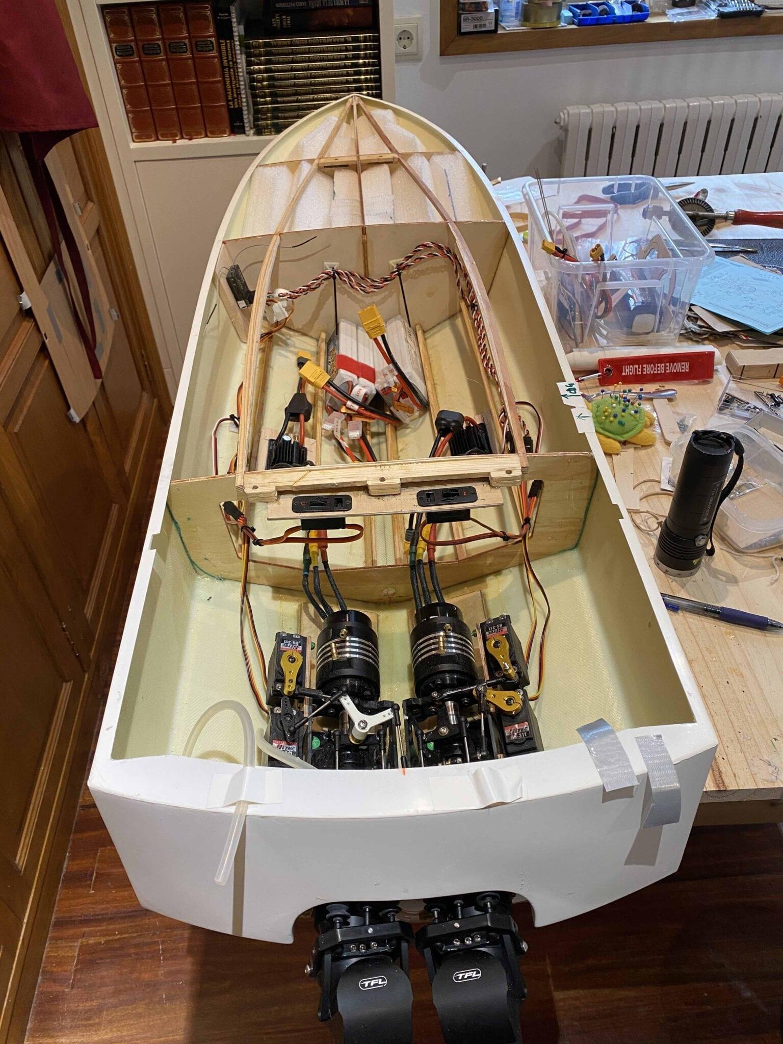 custom twin TFL jet build in progress